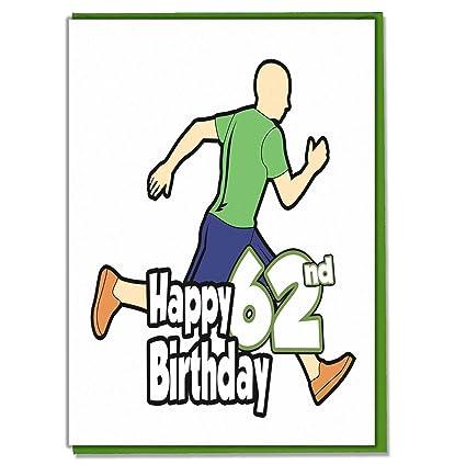 Runner/Running - Tarjeta de cumpleaños 62nd - Hombres, Hijo ...