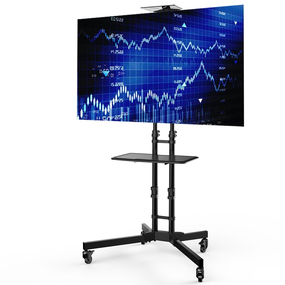 Loctek テレビスタンド 32~65インチ液晶テレビ対応 高さ調整 キャスター付き 棚板付き 移動式 壁寄せテレビ台 P3B B01CFQWSNS
