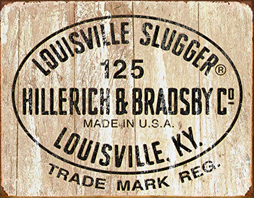 (Desperate Enterprises Louisville Slugger - 125 Logo Tin Sign, 16
