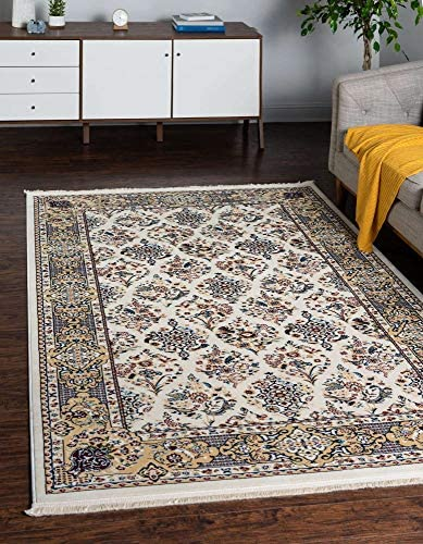 Unique Loom Narenj Collection Classic Traditional Repeating Pattern Ivory Area Rug 10' 0 x 13' 0