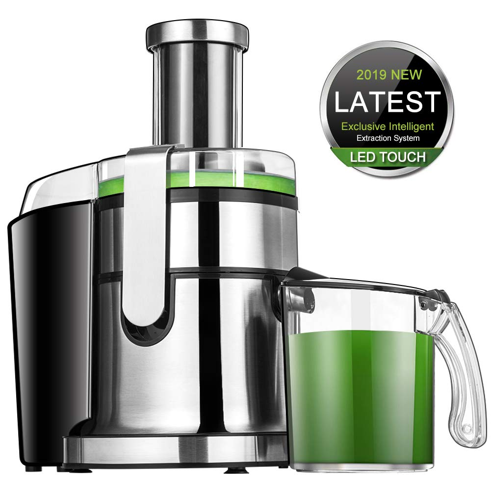 Juicer Machines SOMOYA Juice Extractor Easy to Clean, 2019 Smart LCD Juicer High-Speed 800W Centrifugal Juicer, Juice and pulp Separation Fruit Juicer