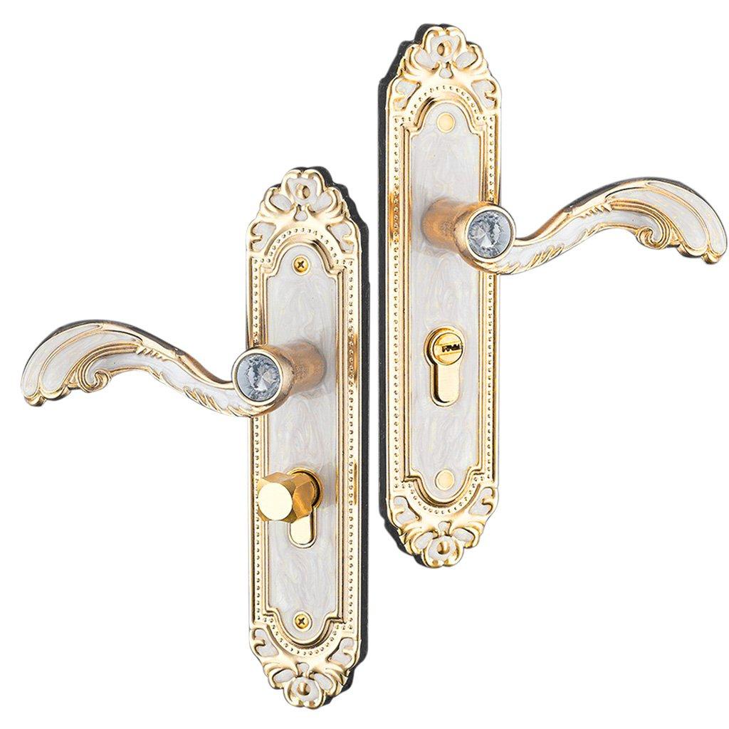 Baoblaze Aluminum Door Handle Sets Lever LATCH LOCK BEDROOM BATHROOMPRIVACY PACKS #2