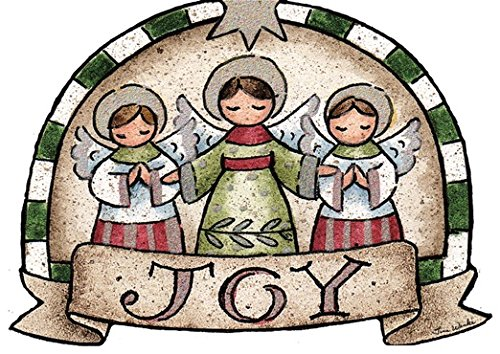 (Performing Arts Hangable Ornament Card Three Little Angels Stationery Paper, 69010-12)