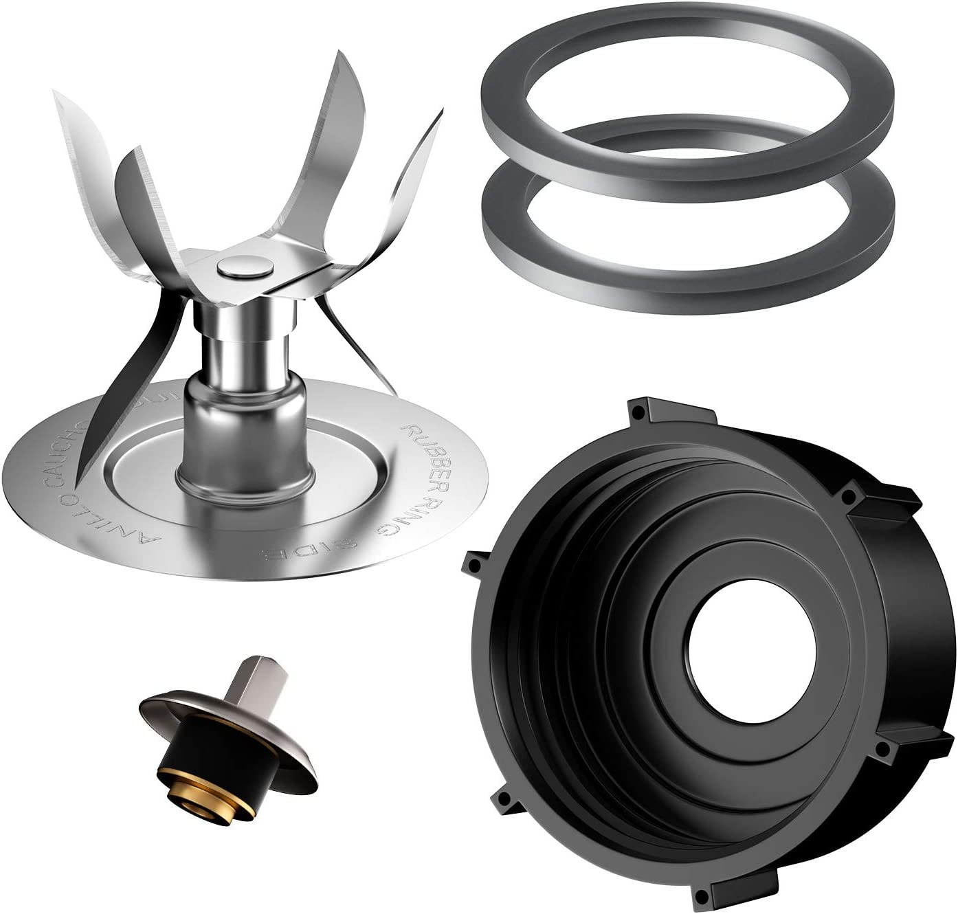 5 Pieces Blender Accessory Ice Blades 4980 Jar Bottom Cap 4902 Sealing O-Ring Gaskets and Drive Coupling Stud Slinger Pin Kit Replacement Parts Compatible with Oster & Osterizer Blender