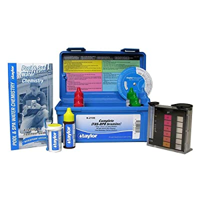 Taylor K-2106 FAS-DPD Bromine Complete Test Kit : Swimming Pool Liquid Test Kits : Garden & Outdoor