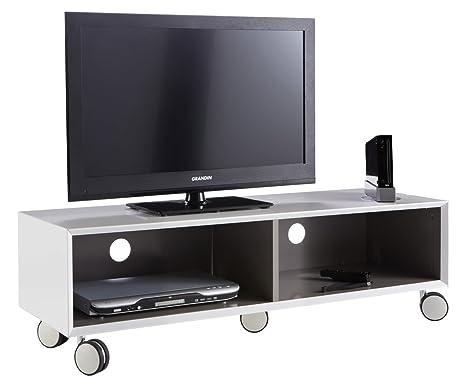 Demevere - Mueble con ruedas para televisor (120 x 36 x 40 cm, madera