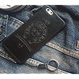 ロゴデザインPhone6,6s 対応 レザー ロゴ保護クロムハーツケースカバー高品質の素材(iphone6 / 6S(4.7インチ)、ブラック)[並行輸入品]高品質の材料 4.7インチ 黒