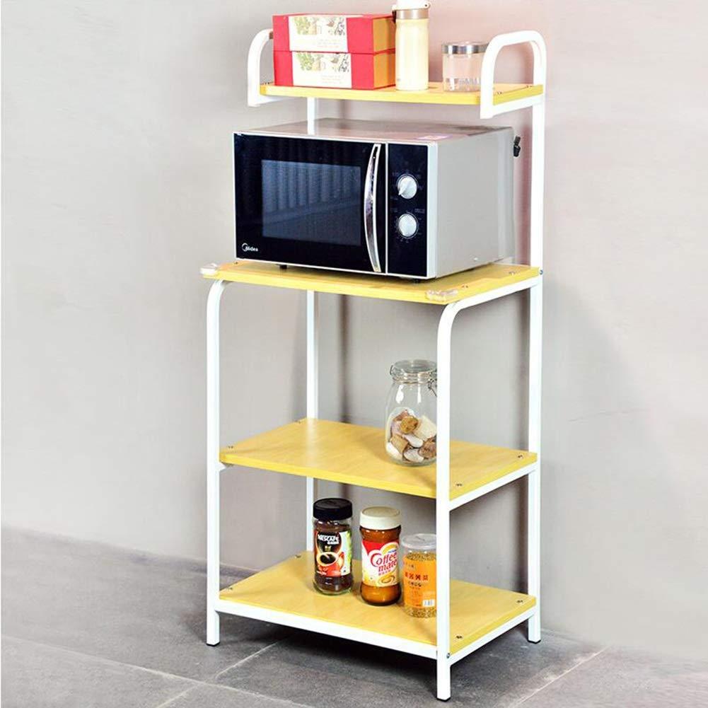 Bookcases Microwave Oven Racks Floor Multi-Layer Kitchen Rack Oven Shelf Pan Rack Spice Rack Storage Rack Finishing Rack Yixin (Color : B, Size : 6040132cm)