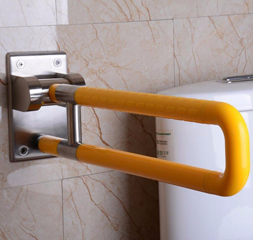 HQLCX Handrail Stainless Steel Handrail Bathroom Barrier Free Safety Handrail,Yellow