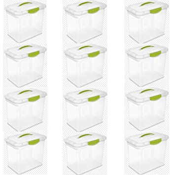 Amazoncom Sterilite Large ShowOffs Spicy Lime Case of 12