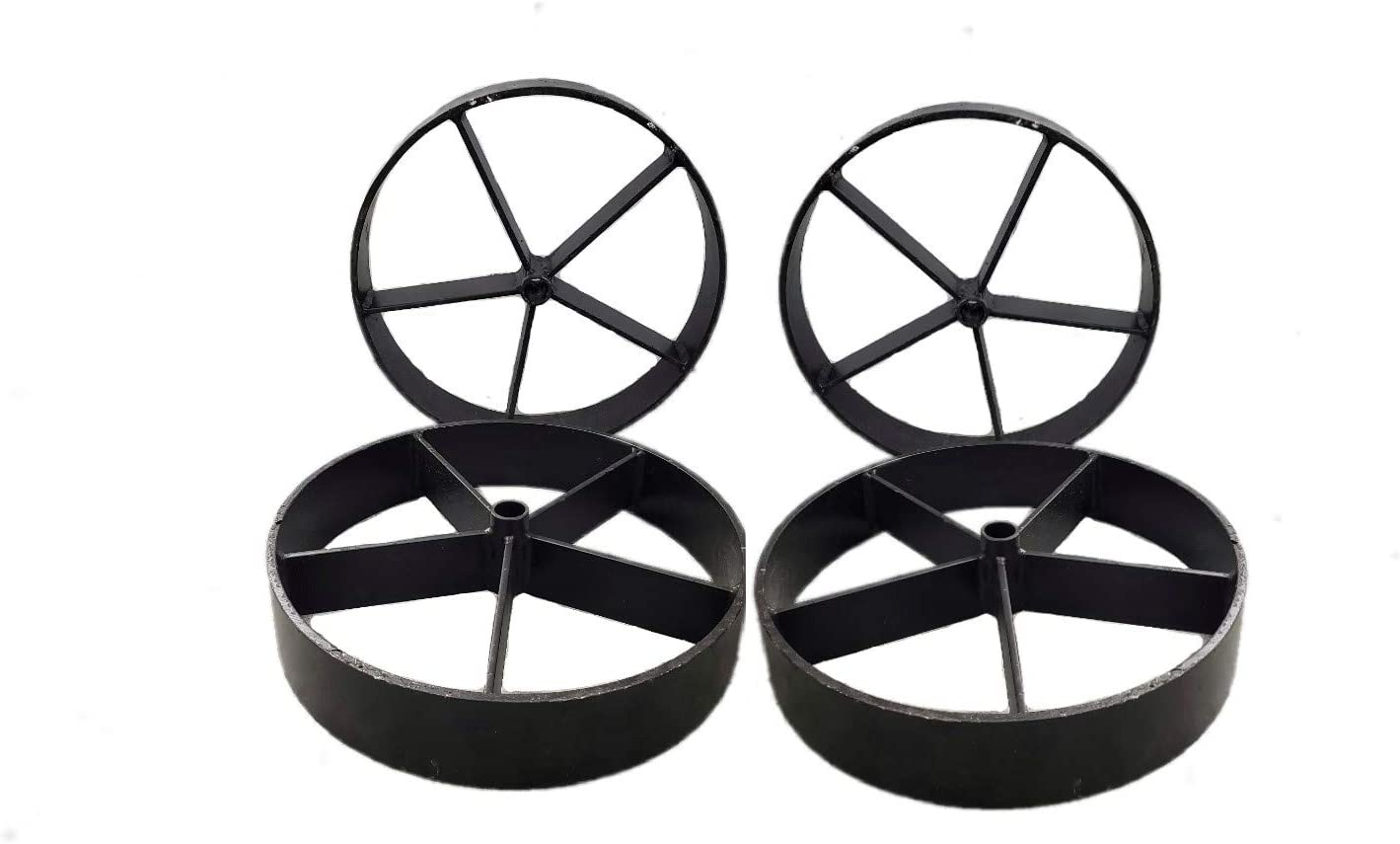 Helotes Pits 12.75 Steel Wagon Wheels for Barbecue Pit 4, 12.75 Set of 4