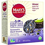 Mary's Gone Crackers Super Seed Seaweed & Black Sesame,  5.5 oz,  (6-Pack, 6 x 5.5 oz. box)