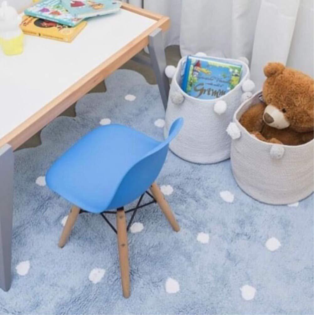 Azul Zinsale Cuerda de algod/ón Cestos para la Colada Pom Pom Robusta Lavable Cesto de lavander/ía Juguetes para beb/és Cesta de Almacenamiento de contenedores