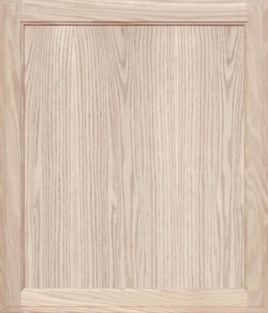 Unfinished Oak Square Flat Panel Cabinet Door by Kendor, 28H x 24W Kendor Wood Inc.