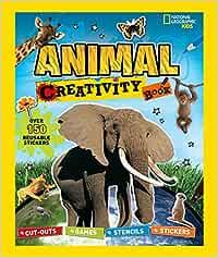 Animal Creativity Book: Cut-outs, Games, Stencils