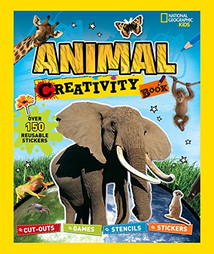 National Geographic Kids: Animal Creativity Book: Cut-outs, Games, Stencils, Stickers (Activity Books) by Brand: National Geographic Children's Books (Image #2)
