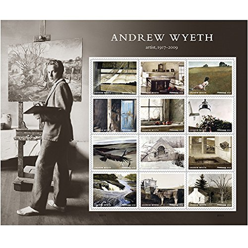 Andrew Wyeth 10 Sheets of 12 USPS First Class Postage Stamps American Artist Paintings