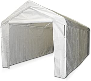 Caravan Canopy 12000211010 Side Wall Kit for Domain Carport, White (Top and Frame Not Included)