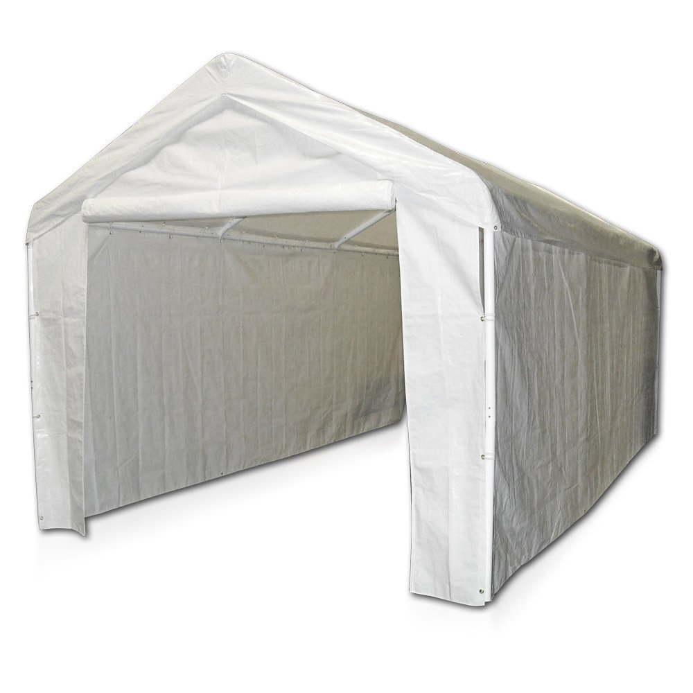 Amazon.com Caravan Canopy Side Wall Kit for Domain Carport White Garden u0026 Outdoor  sc 1 st  Amazon.com & Amazon.com: Caravan Canopy Side Wall Kit for Domain Carport White ...