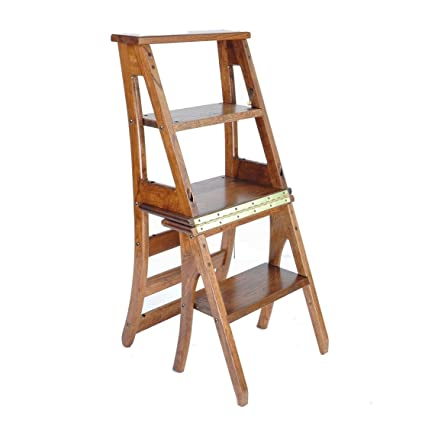 Gentil Modern Furniture Wood Folding Ladder Chair Fold Up Library Steps Ladder  Chair Kitchen Office Use Furniture