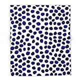 Society6 Indigo Spots Dots Minimal Modern Abstract Painting Boho Dorm College Decor Monochromatic Nautical 88'' x 104'' Blanket
