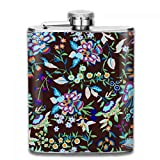 6/7/8 OZ Cool 304 (18/8) Stainless Steel Classic Hip Flask For Woman and Girls, Whiskey Alcohol Liquor pocket For Wedding Birthday Party Gift