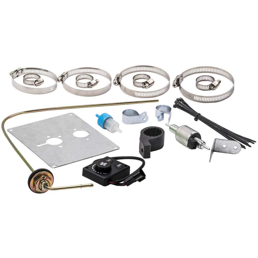 maXpeedingrods 12V 2KW-5KW Diesel Air Heater LCD Display Remote Control 4 Holes All-in-One for Caravan Bus Boat Trailer Van