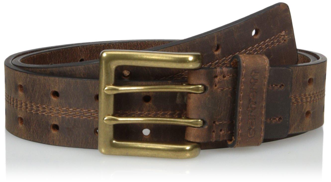 Carhartt Men's Signature Casual Belt, Perf Brown, 34