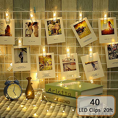 40 Warm White Led Fairy Lights Clear Cable in US - 4