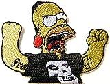 Simpson Misfits Skull Rock Comics Cartoon Logo Punk Rock Heavy Metal Music Band Jacket shirt hat blanket backpack T shirt Patch Embroidered Appliques Symbol Badge Cloth Sign Costume Gift