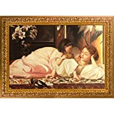 overstockArt Mother and Child by Lord Frederic Leighton Framed Hand Painted Oil on Canvas