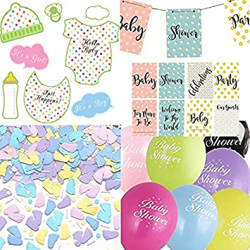 Baby Shower Decorations Party Pack Banner Photo Props Balloons