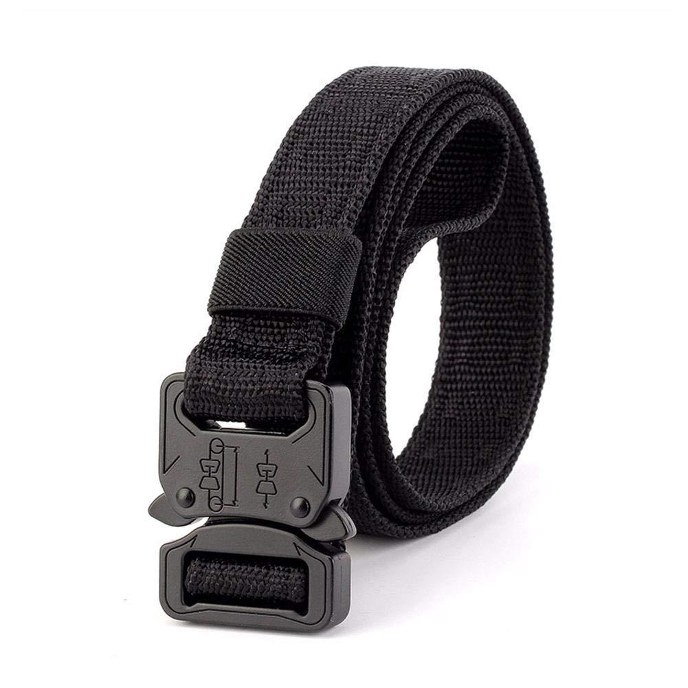 Tactical Belt for Men Military Style Nylon Belts Adjustable with Heavy-Duty Quick-Release Metal Buckle 2.5CM Width Men