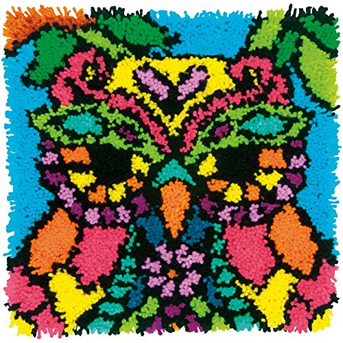 Dimensions Colorful Owl Latch Hook Craft Kit for Kids, 16 x 16