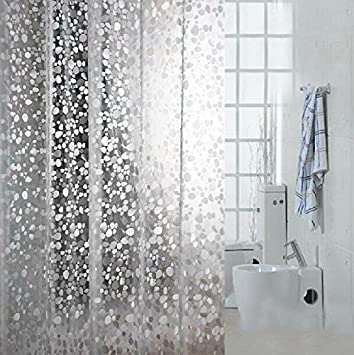 Eforgift Eco Friendly 12 Gauge PVC Shower Curtains Mildew Resistant  Waterproof ,Bathroom Curtain Liner