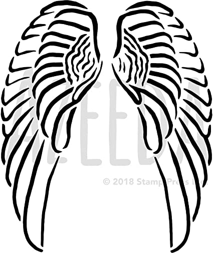 Amazon Com Large A2 Angel Wings Wall Stencil Template Ws00022389 Toys Games