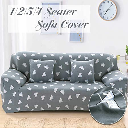 Print Slipcover 1-2-3-4 Seater Stretch Chair Sofa Cartoon Couch Protect Covers