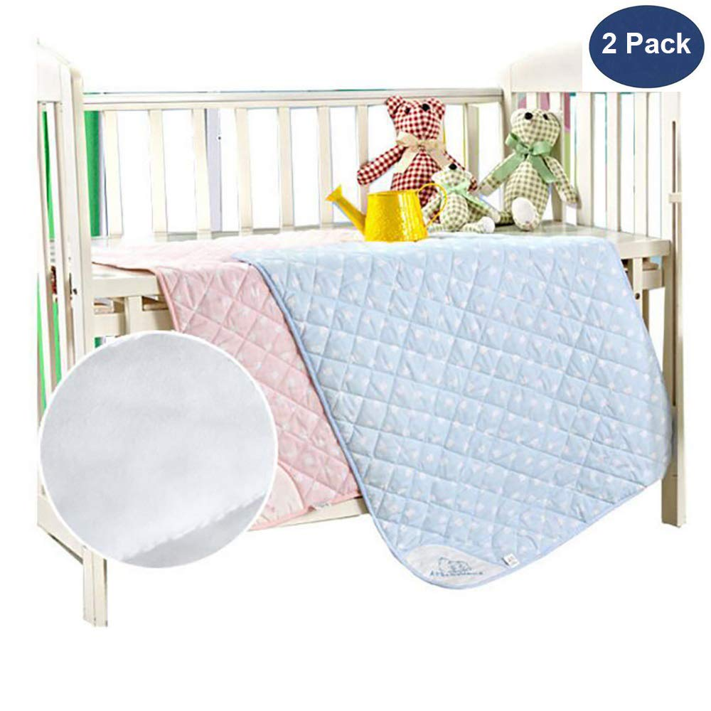 """NeatoTek 2 Pack Large Size 35x27"""" Bed Pads Washable Waterproof Mattress Protector, Reusable Pee Pads for Bed Wetting Toddlers, Adults, Elderly, Women or Kids, Children Waterproof Mattress Pad"""
