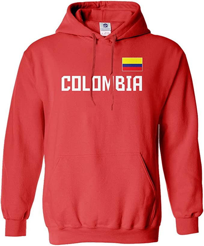 Amazon.com: threadrock sudadera Colombia National Pride ...