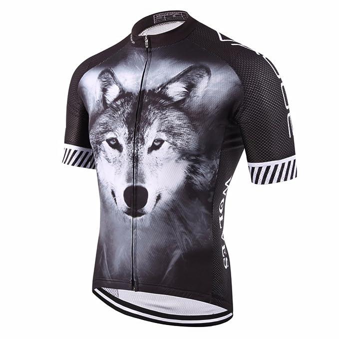 Amazon.com: nawing maillot ciclismo verano deportes lobo ...