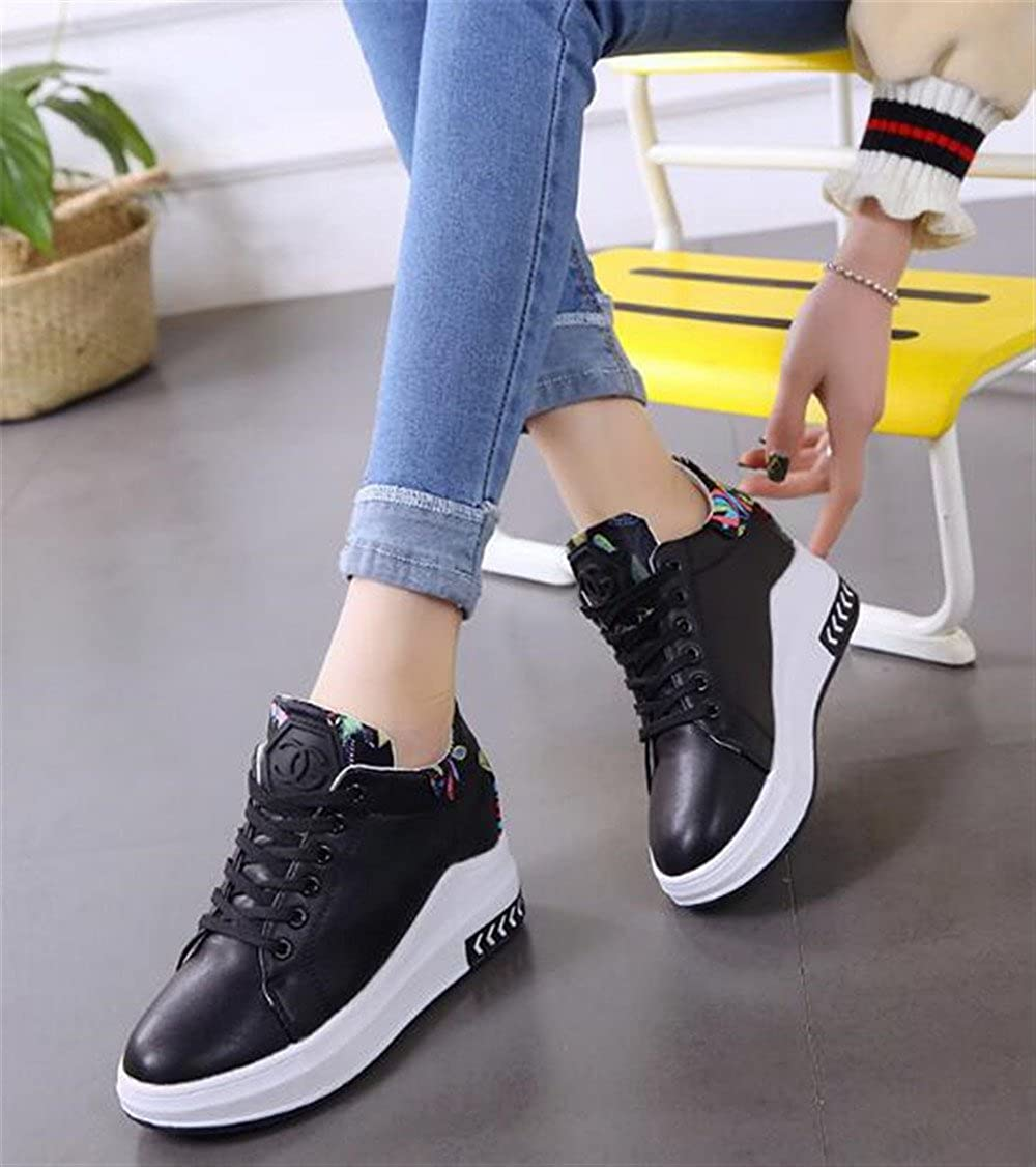 Believed Womens Increased Within The Higher Flat Shoes Casual High Heels Wedges Platform Sneaker