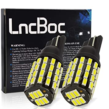 LncBoc T10 W5W Bombillas LED Coche 54SMD 3014LED 501 2825 175 192 168 194 Wedge Lampara