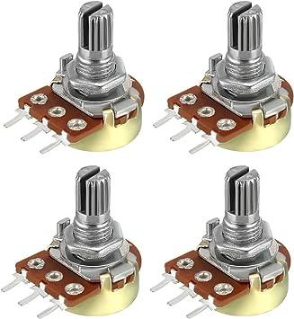 1K-47K Ohm Variable Resistor Single Turn Rotary Carbon Film Taper Potentiometer
