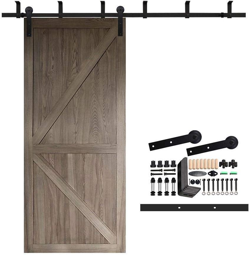 ccjh – Soporte de techo para pantalla plana acero puerta corrediza de granero madera Hardware Kit line-flat estilo: Amazon.es: Bricolaje y herramientas