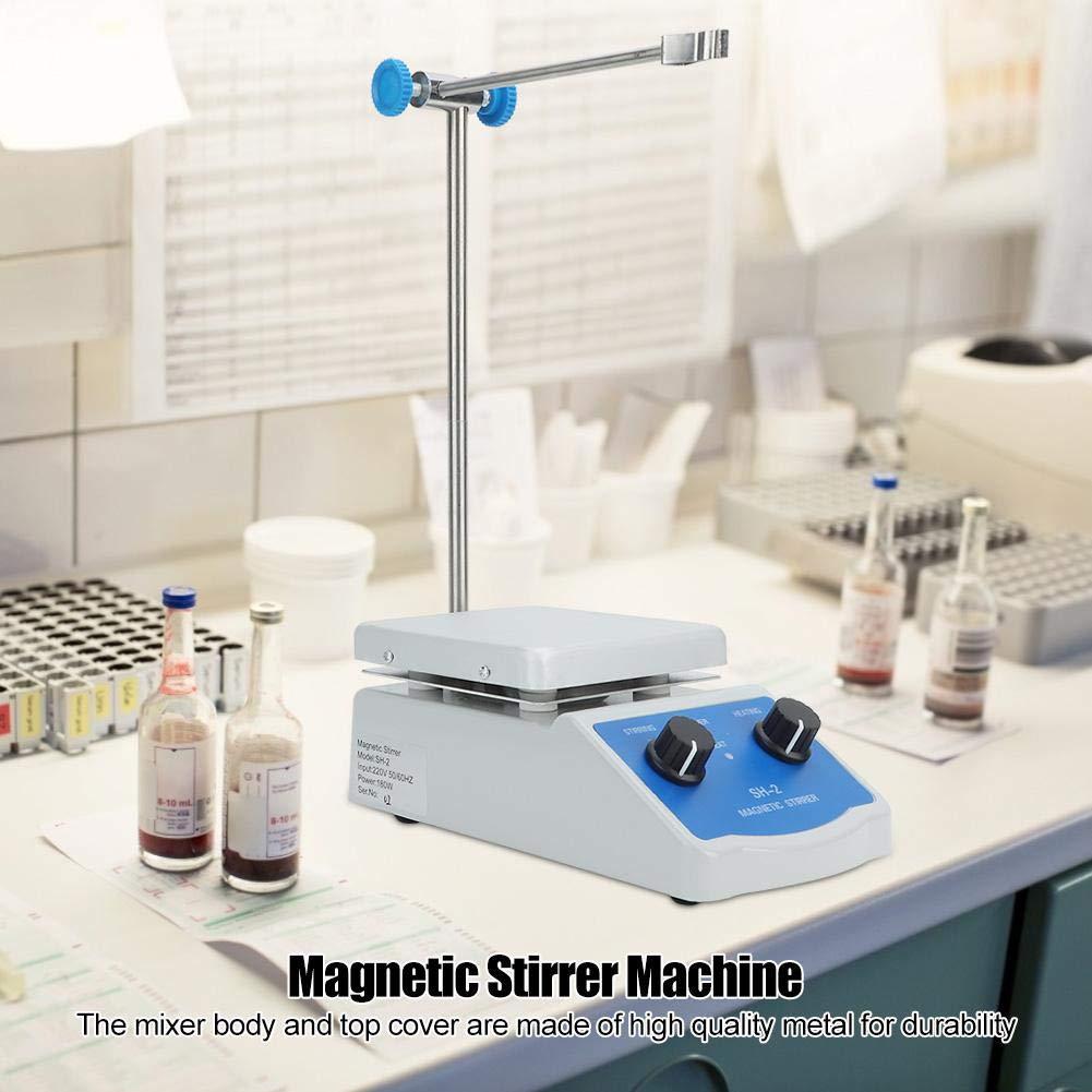 agitatore di riscaldamento di temperatura costante del laboratorio magnetico di agitazione SH-2 Miscelatore magnetico della piastra riscaldante di agitazione EU Plug