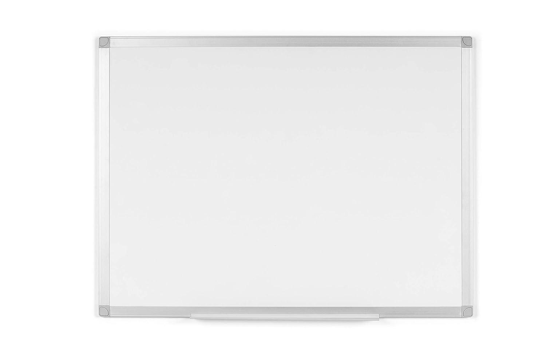 BoardsPlus - Pizarra blanca con marco de aluminio y bandeja, 90 x 60 cm (no magnética): Amazon.es: Oficina y papelería