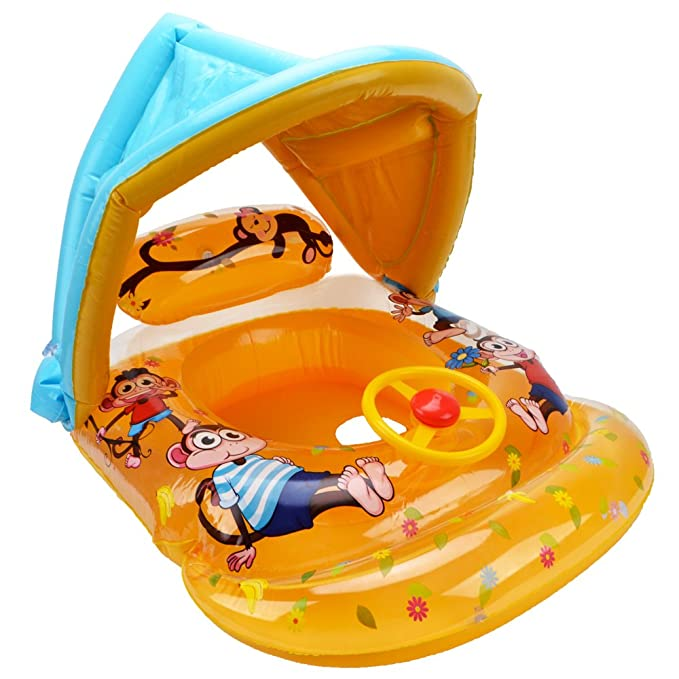 39 inch Kids Inflatable Water Wheel Pool Float Swim Ring Toy Fun Swimming Party