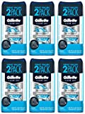 Gillette Clear Gel Antiperspirant and Deodorant, Undefeated, 2 Count (Pack of 6)