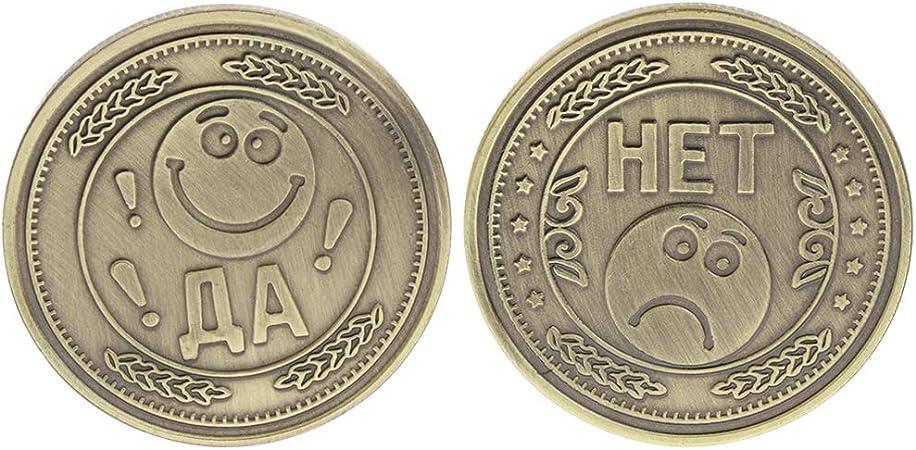 Exing coleccionistas Monedas Moneda, Moneda Conmemorativa Sonrisa Suerte Penoso Tristeza luto Cara Colección: Amazon.es: Hogar