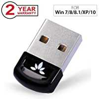 Avantree USB Bluetooth 4.0 Adapter Dongle for PC Laptop Computer Desktop Stereo Music, Skype Calls, Keyboard, Mouse, Support All Windows 10 8.1 8 7 XP vista - DG40S [2 Year Warranty]
